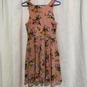 LN She & Sky salmon floral dress